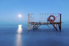 Mare di notte Fotografia Stock Libera da Diritti