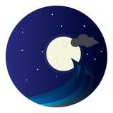 Mare di notte Illustrazione di Stock