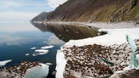 Mare di Okhotsk della costa del nord immagini stock