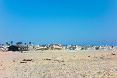 Mare di Oxnard, sabbie della spiaggia di Mandalay, CA Fotografie Stock Libere da Diritti