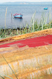 Mare di paesaggio delle barche Fotografia Stock Libera da Diritti
