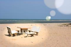 Mare di pietra del sole della sabbia del banco Fotografia Stock