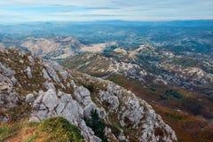 Mare di pietra. Il Montenegro, parco nazionale Lovtcen. Immagini Stock