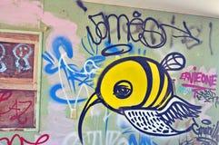 Mare di Salton: Spiaggia Graffitti di Bombay Fotografia Stock Libera da Diritti