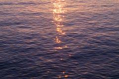 Mare di tramonto di Manarola Fotografie Stock