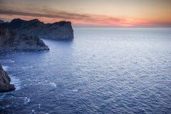 Mare dopo il tramonto Fotografia Stock