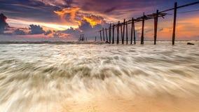 Mare durante al tramonto Fotografia Stock Libera da Diritti