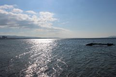 Mare e cieli calmi fotografia stock libera da diritti