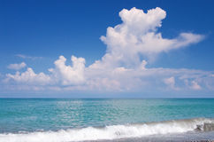 Mare e cielo Immagini Stock