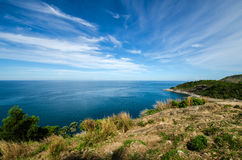 Mare e cielo blu Fotografie Stock Libere da Diritti