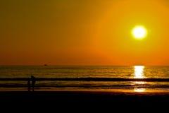 Mare e cielo di tramonto Fotografia Stock Libera da Diritti