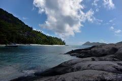 Mare e cielo Seychelles Immagine Stock Libera da Diritti