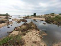 Mare e fiume Fotografie Stock