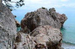 Mare e le pietre Fotografie Stock