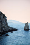 Mare e montagne in Crimea Immagine Stock