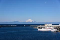 Mare e Mt fuji Fotografie Stock Libere da Diritti