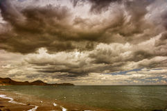 Mare e nubi Immagini Stock Libere da Diritti