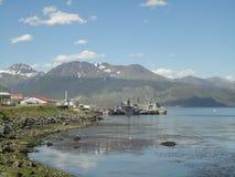 Mare e paesaggio con le navi Fotografia Stock
