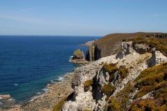 Mare e scogliere Brittany - in Francia Fotografie Stock