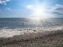 Mare e sole Fotografia Stock Libera da Diritti