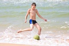 Mare footbal fotografie stock libere da diritti