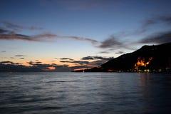 Mare ionico al tramonto immagine stock libera da diritti