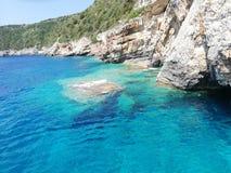 Mare ionico del turchese fotografie stock libere da diritti
