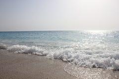 Mare ionico della bella spiaggia di Egremni fotografia stock