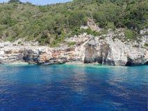 Mare ionico di Paxos Grecia immagine stock