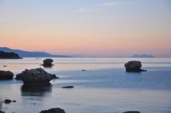 Mare ionico, isola di Kefalonia, isole ioniche, Grecia fotografie stock libere da diritti