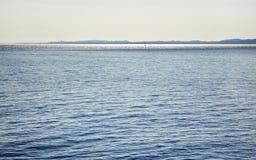 Mare ionico vicino a Igoumenitsa ed a Corfù La Grecia fotografia stock