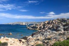 Mare Island Maddalena Sardinia. Stretch of coast and sea on the island of La Maddalena Sardinia Stock Images