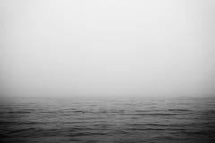 Mare nebbioso Fotografie Stock Libere da Diritti