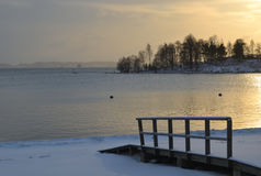 Mare nell'inverno Immagini Stock