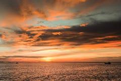 Mare nella sera Fotografia Stock Libera da Diritti