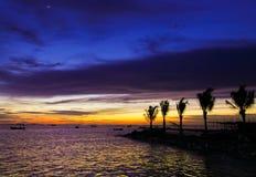 Mare nella sera Fotografie Stock