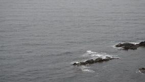 Mare ondulato in un'aria ventosa archivi video