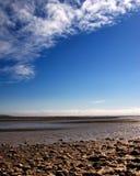 Mare, roccia e nubi Fotografie Stock