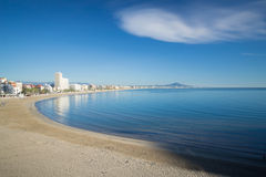Mare, sabbia e nuvola Fotografie Stock Libere da Diritti