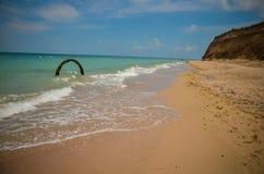 Mare selvaggio della Bulgaria della spiaggia di Krapetz Fotografie Stock