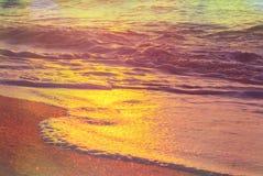 Mare sul tramonto Fotografia Stock Libera da Diritti