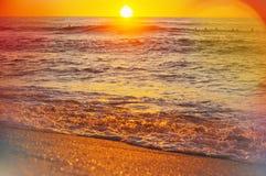 Mare sul tramonto Immagine Stock