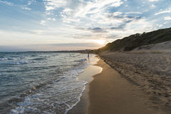 Mare sul tramonto Fotografie Stock Libere da Diritti