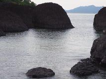 Mare sulla spiaggia Fotografie Stock Libere da Diritti