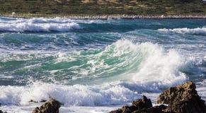 Mare in tempesta e onde Royalty Free Stock Image