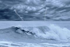 Mare tempestoso Fotografie Stock