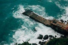 Mare tempestoso Fotografie Stock Libere da Diritti