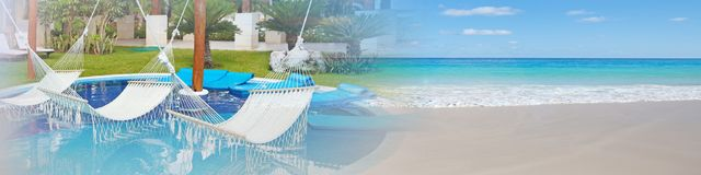 Mare tropicale della spiaggia Fotografie Stock Libere da Diritti