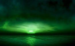 Mare verde smeraldo Fotografia Stock
