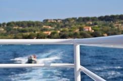 Mare visto dal traghetto Fotografia Stock